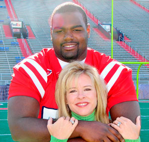 how did leigh anne tuohy meet michael oher movie